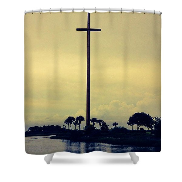 The Great Cross Shower Curtain