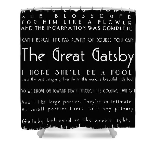 The Great Gatsby Quotes Shower Curtain