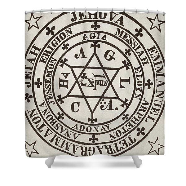 The Great Magic Circle Of Agrippa For The Evocation Of Demons Shower Curtain