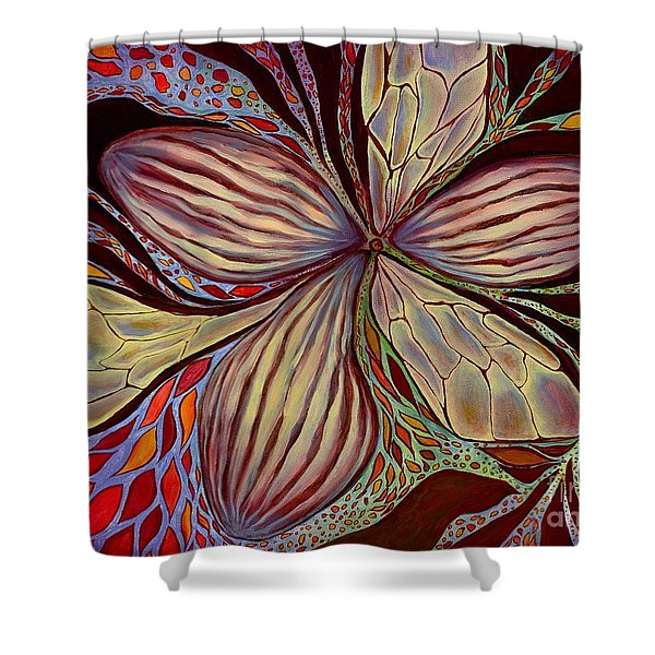 The Great Pollination Shower Curtain