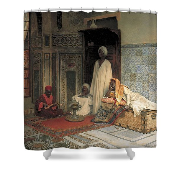 The Guards Of The Harem  Shower Curtain