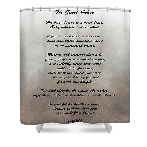 The Guest House Inspiration Shower Curtain