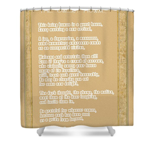 The Guest House Poem By Rumi Shower Curtain