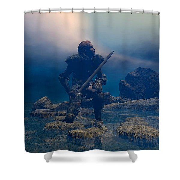 The Hand Of God On Your Head Shower Curtain