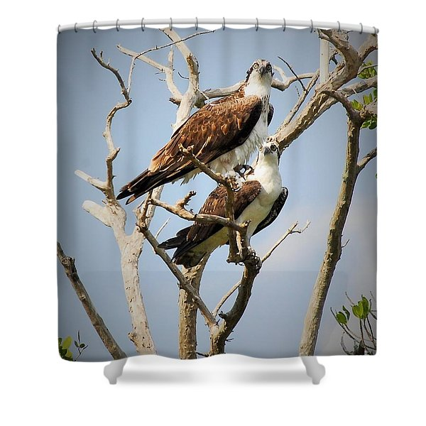 The Happy Couple Shower Curtain