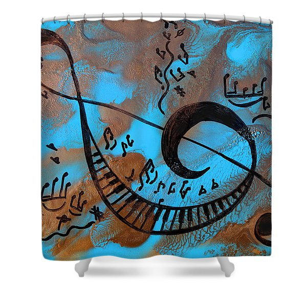 The Happy Sol Key Shower Curtain