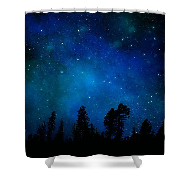 The Heavens Are Declaring Gods Glory Mural Shower Curtain