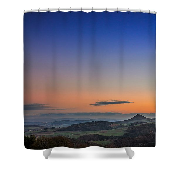 The Hegauview Shower Curtain