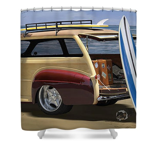 The Hideaway Panoramic Shower Curtain