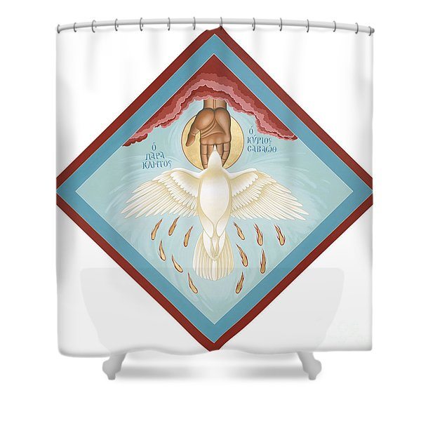 The Holy Spirit The Lord The Giver Of Life The Paraclete Sender Of Peace 093 Shower Curtain