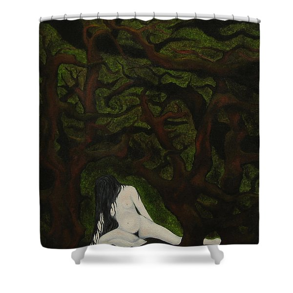 The Hunter Is Gone Shower Curtain