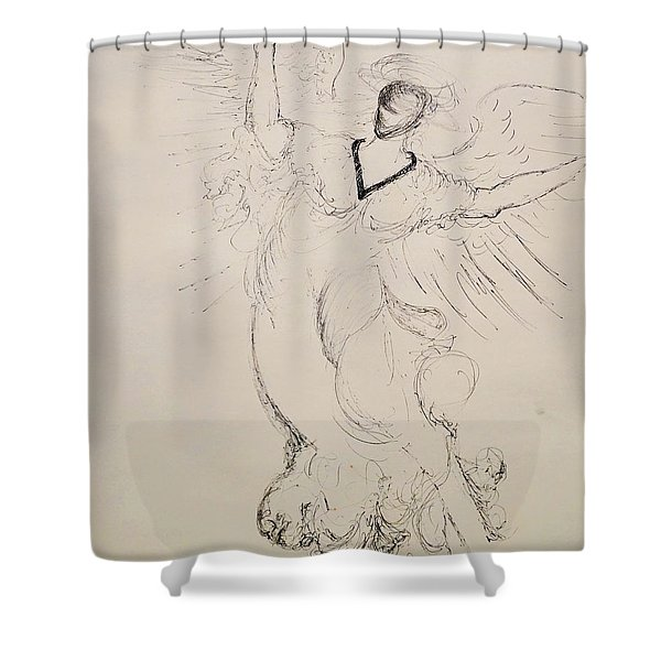 The Immortal Angel Shower Curtain