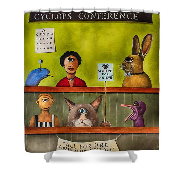 The International Cyclops Conference Edit 3 Shower Curtain