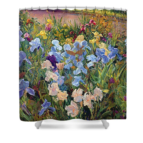 The Iris Bed Shower Curtain