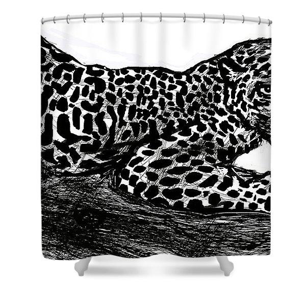 The Jaguar  Shower Curtain