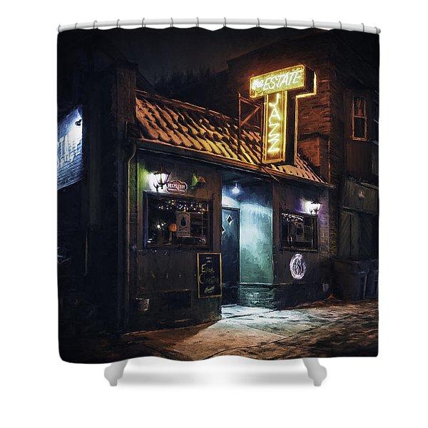The Jazz Estate Nightclub Shower Curtain