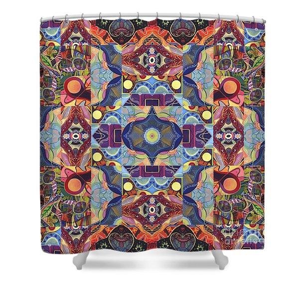 The Joy Of Design Mandala Series Puzzle 1 Arrangement 1 Shower Curtain