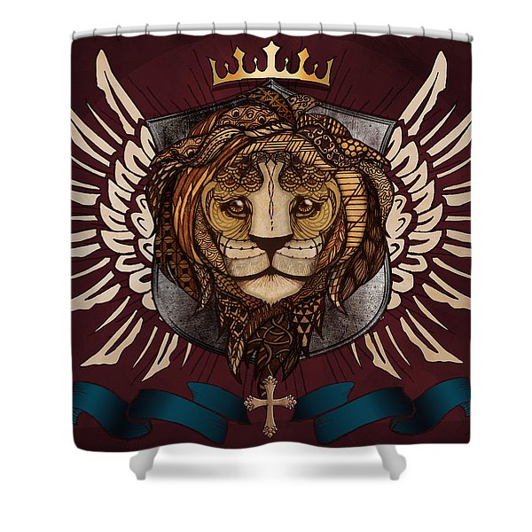 The King's Heraldry Shower Curtain