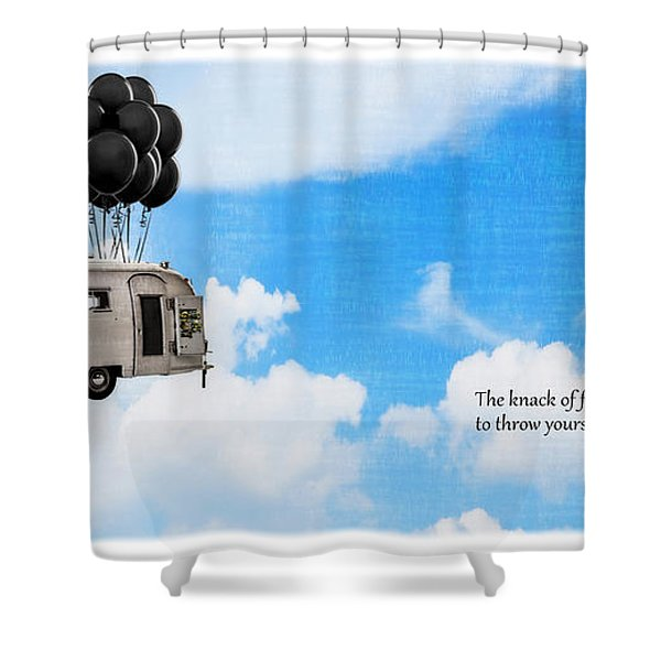 The Knack Of Flying Shower Curtain