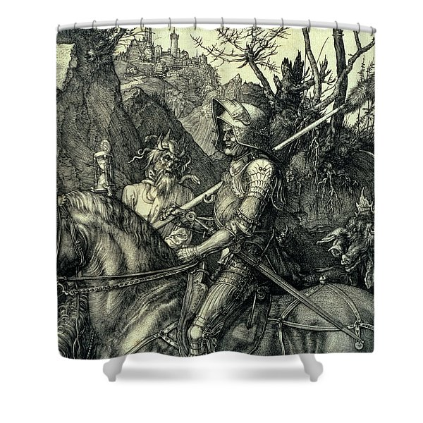 The Knight, Death And The Devil Shower Curtain
