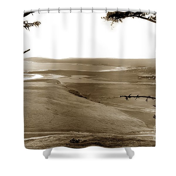 The Lagoon At The Mouth Of The Carmel River  From Fish Ranch California 1905 Shower Curtain