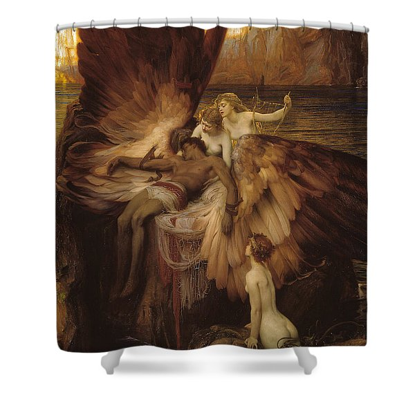Shower Curtain featuring the painting The Lament For Icarus by Herbert James Draper