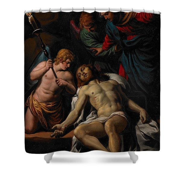 The Lamentation Shower Curtain