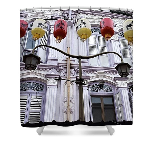 The Lamp, Singapore Shower Curtain