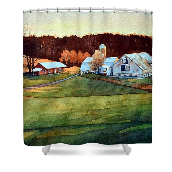 The Last Beaujolais Shower Curtain