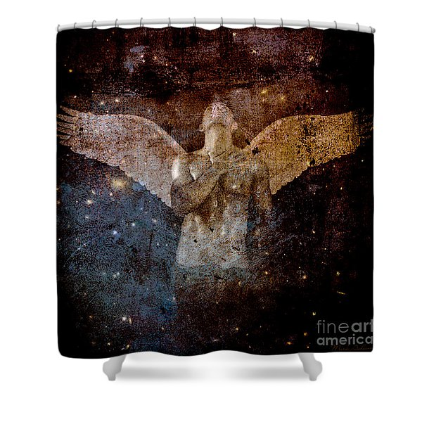 The Last Angel  Shower Curtain