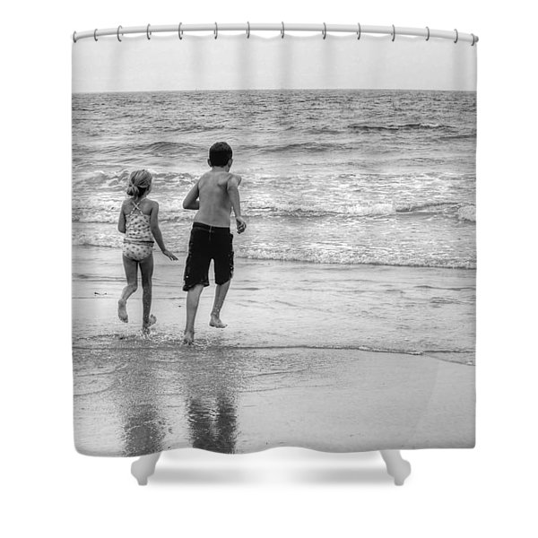 The Last Wave Shower Curtain