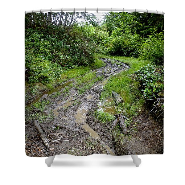 The Ledge Point Trail Shower Curtain