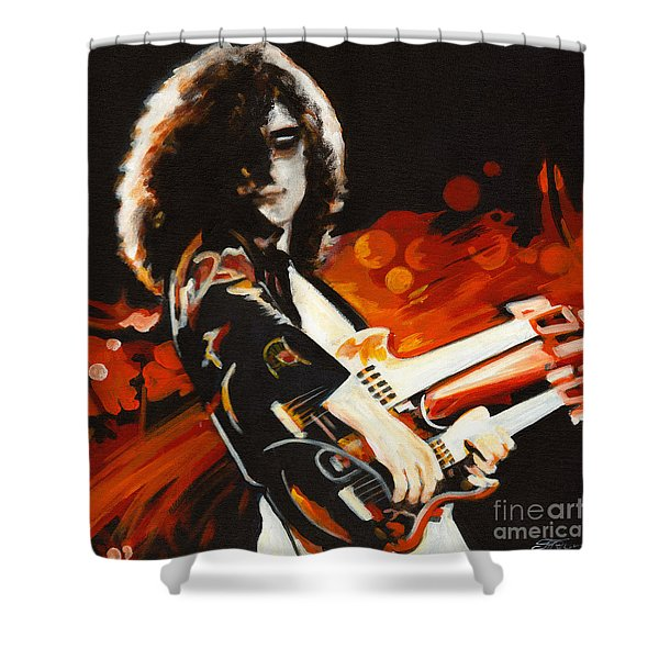 Stairway To Heaven. Jimmy Page  Shower Curtain