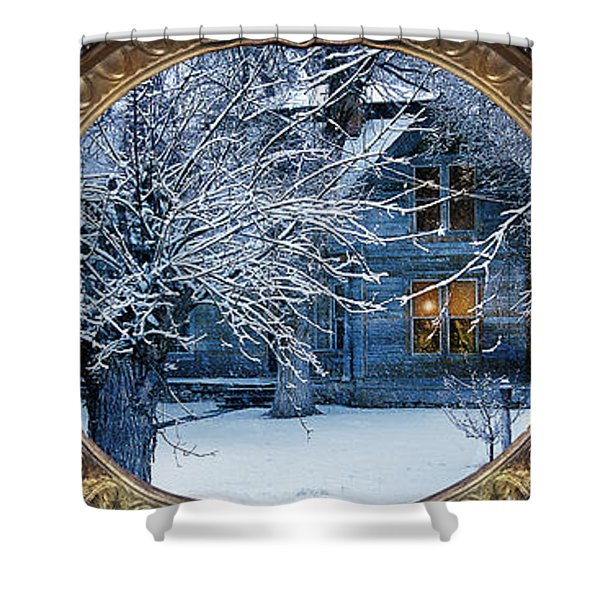Shower Curtain featuring the photograph The Light In The Window by Gunter Nezhoda