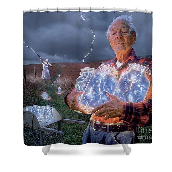The Lightning Catchers Shower Curtain