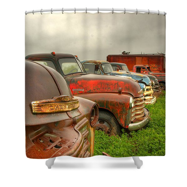The Line Up 1 Shower Curtain