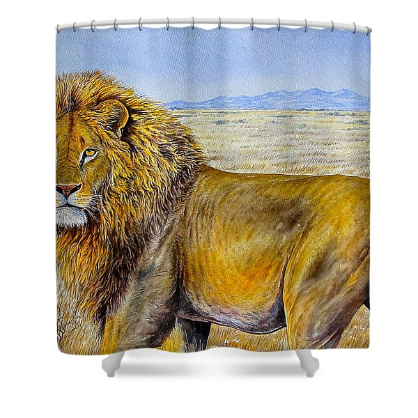 The Lion Rules Shower Curtain