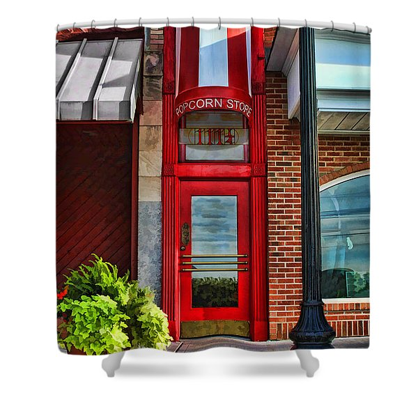 The Little Popcorn Shop In Wheaton Shower Curtain