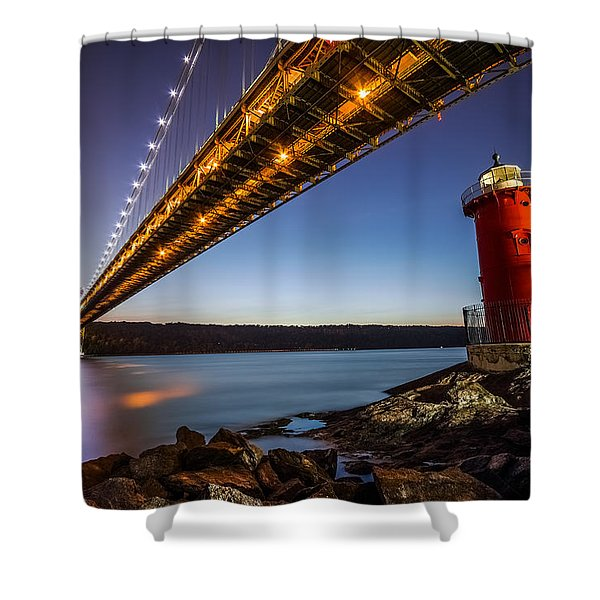 The Little Red Lighthouse Shower Curtain