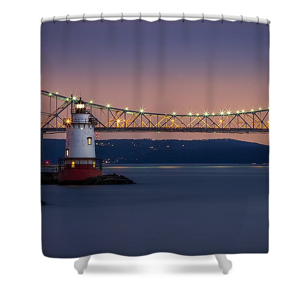 The Little White Lighthouse Shower Curtain