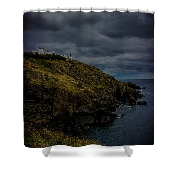 The Lizard Cornwall Storm Approaching Shower Curtain