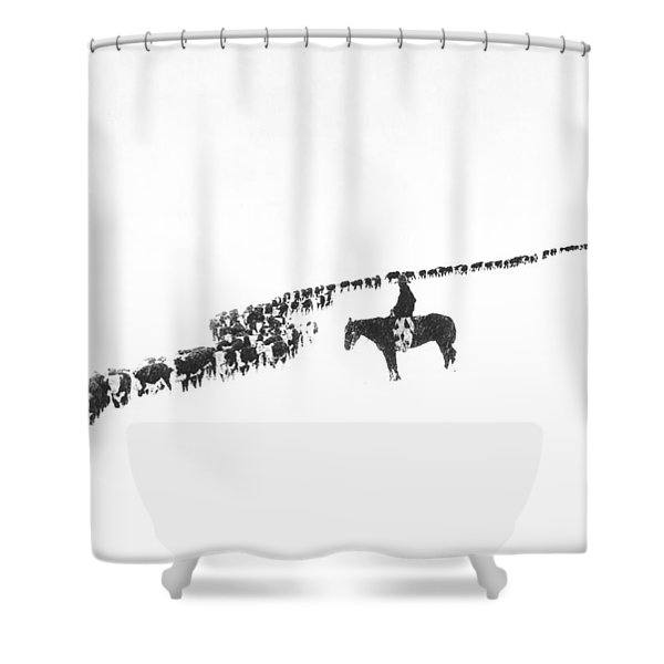 The Long Long Line Shower Curtain