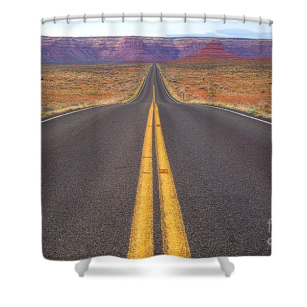 The Long Road Ahead Shower Curtain