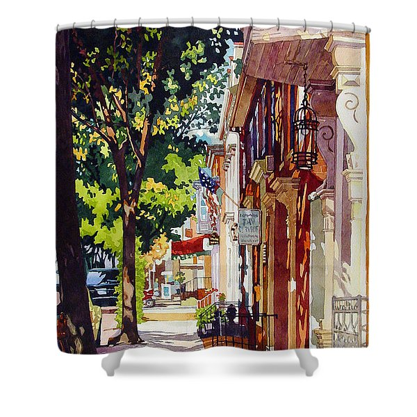 The Long Walk To Market Shower Curtain