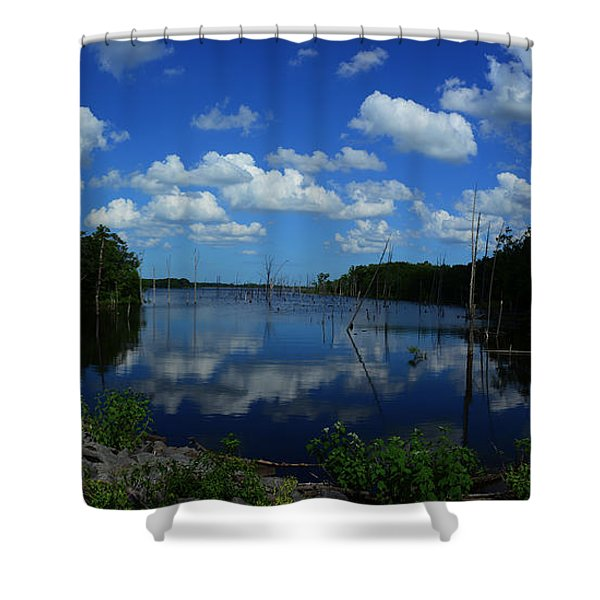 The Lord And His Manor Shower Curtain