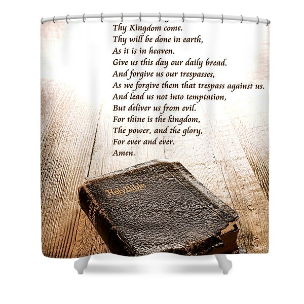 The Lord's Prayer And Bible Shower Curtain