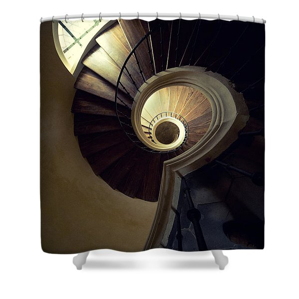 Shower Curtain featuring the photograph The Lost Tower by Jaroslaw Blaminsky