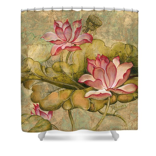 The Lotus Family Shower Curtain