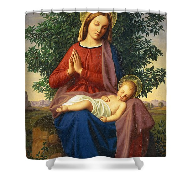 The Madonna And Child Shower Curtain