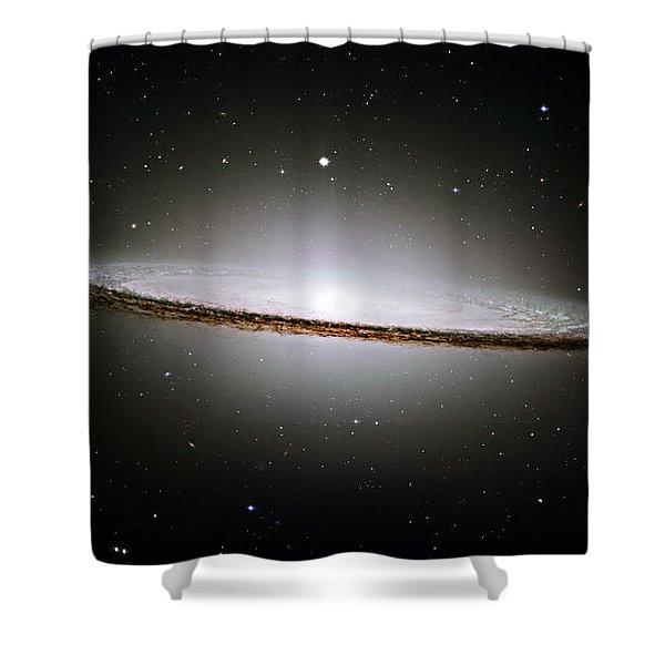 The Majestic Sombrero Galaxy Shower Curtain